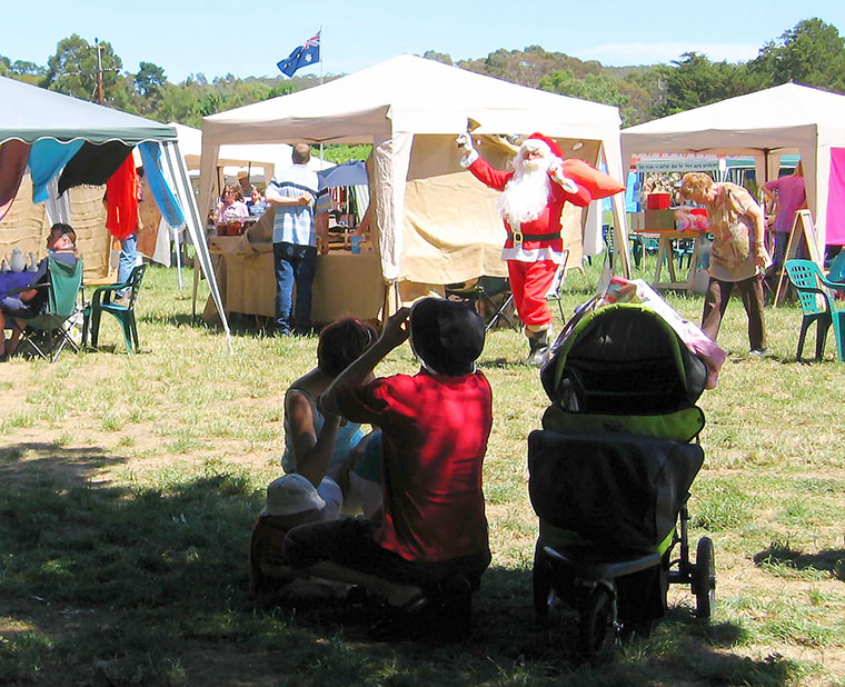 Santa at the 2004 Fete