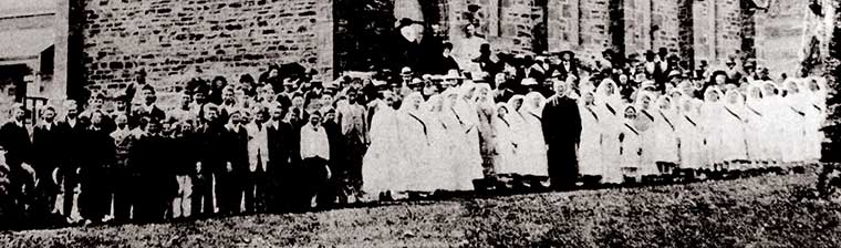 Confirmation 7 Oct 1886 at St James the Less. - inset