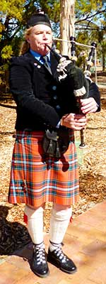 Bagpipes at RSL Macclesfield